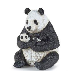 Papo 50196 - Panda siedząca z młodym