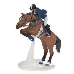 Papo 51562 - Skaczący koń z jeźdźcem