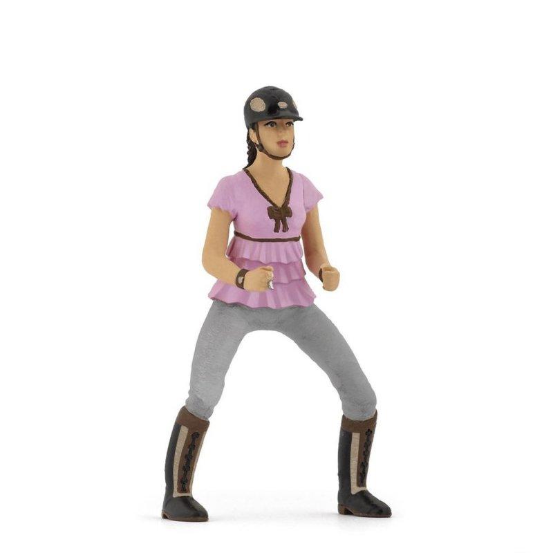 Papo 52006 - Dziewczyna jeździec w różowej bluzce