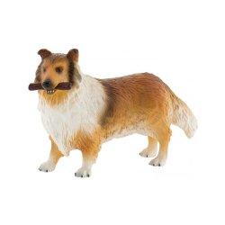 Bullyland 65444 - Pies Collie z patykiem