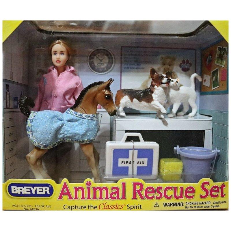 Breyer Classics 61036 - Lecznica dla zwierząt - lalka i zwierzaki