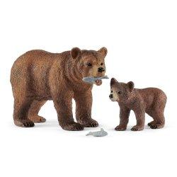 Schleich 42473 - Niedźwiedź grizli samica z młodym