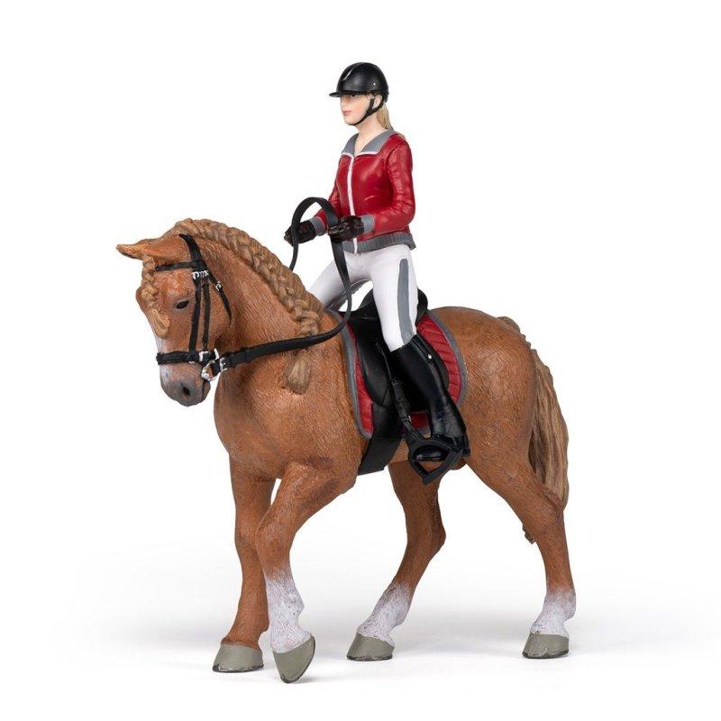 Papo 51564 - Koń z amazonką w stylu angielskim