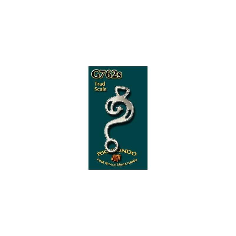 Rio Rondo skala TR - Hackamore barokowe G762 srebrne komplet