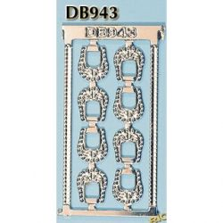 Rio Rondo skala LB - Sprzączki 8x zdobione do kantarów west DB943s srebrne