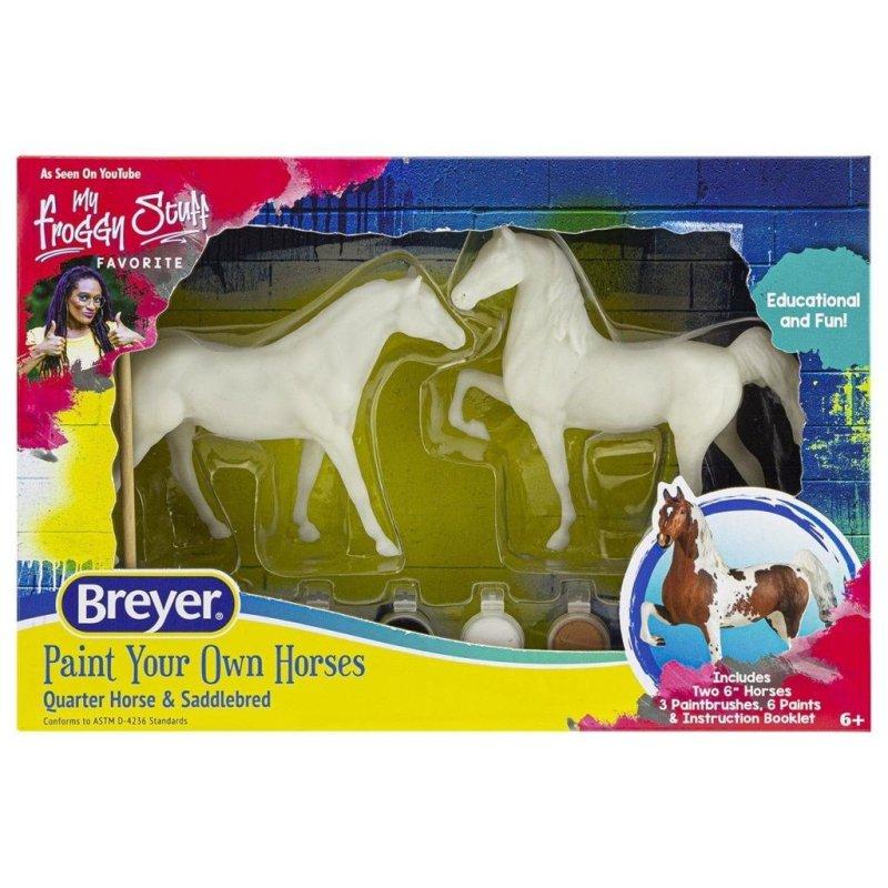 Breyer zestaw 4260 - Dwa konie do malowania quarter i saddlebred