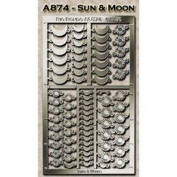 Rio Rondo skala TR - Charmsy słońce i księżyc A874s srebrne