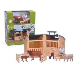 CollectA 84150 - Stajnia z farmerką i zwierzętami