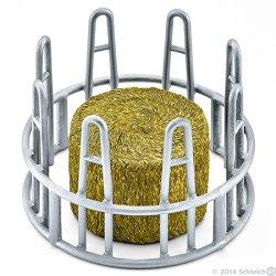 Schleich 41421 - Paśnik okrąły dla koni lub bydła z sianem